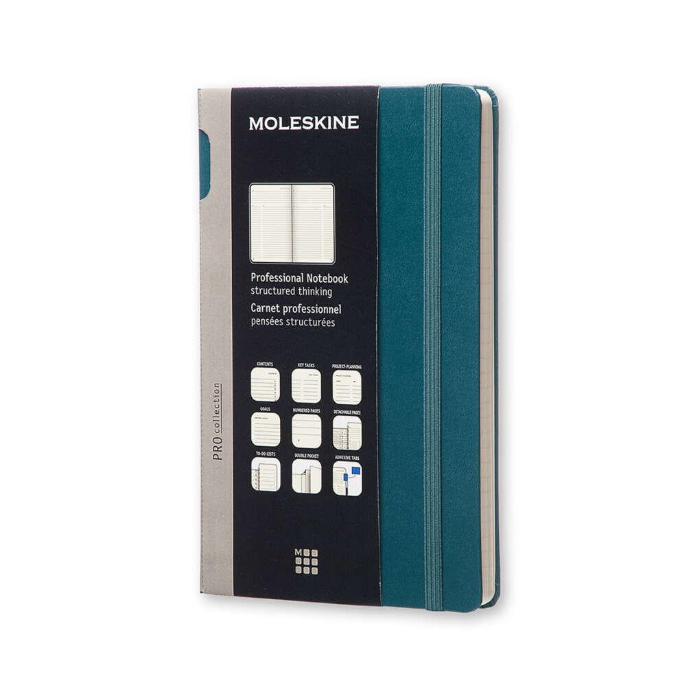 Записная книжка Moleskine Professional, Large (13х21см), темно-зеленый