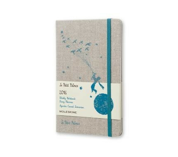 12 months - Le Petit Prince Weekly Notebook Planner - Large - hard cover