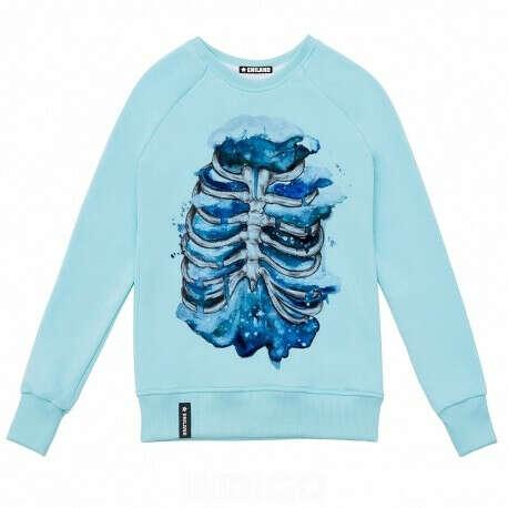 Купить голубой свитшот - Ребра женская одежда в интернет-магазине - IndigoGift.ru