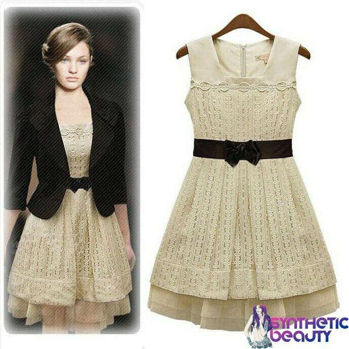 Ретро-платье с кружевом