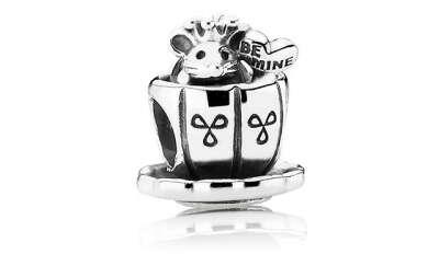 """Шарм из серебра """"Мышка в чашке"""" Pandora"""