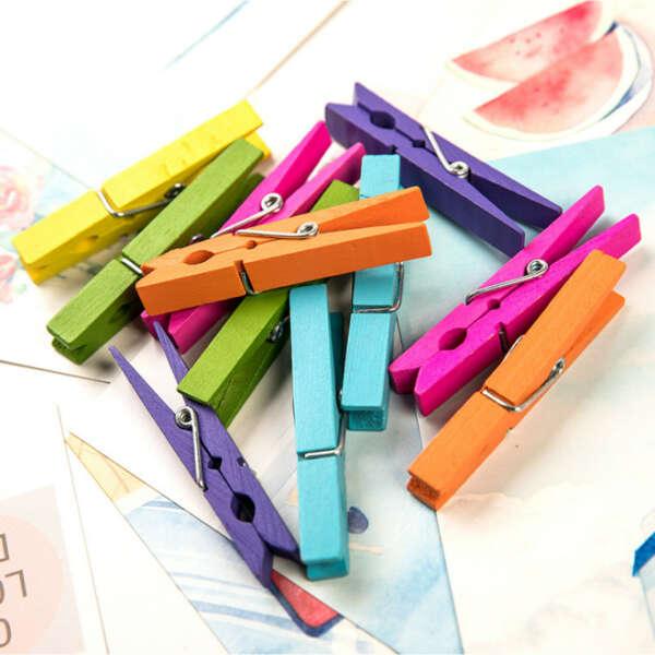 Разноцветные прищепки