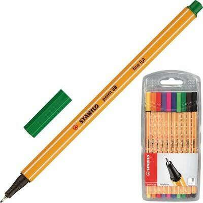 Набор линеров Stabilo Point 88 10 цветов (толщина линии 0.4 мм) – выгодная цена – купить товар Набор линеров Stabilo Point 88 10 цветов (толщина линии 0.4 мм) в интернет-магазине Комус