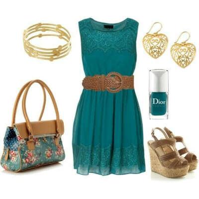 Платье и басаножки