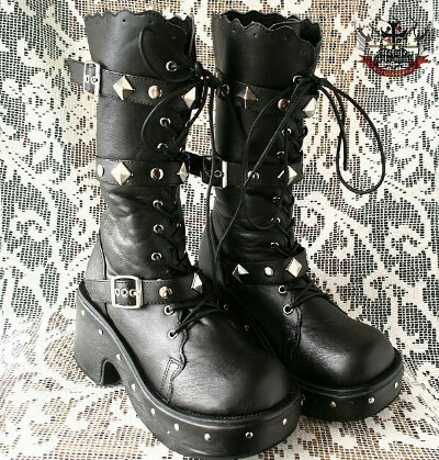GOTHic PUNK Cosplay BJD STYLE BOOTS