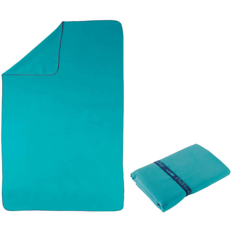 Полотенце из микрофибры синее