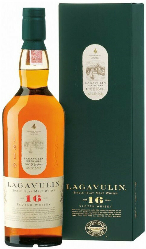 Виски Lagavulin malt 16 years old, with box