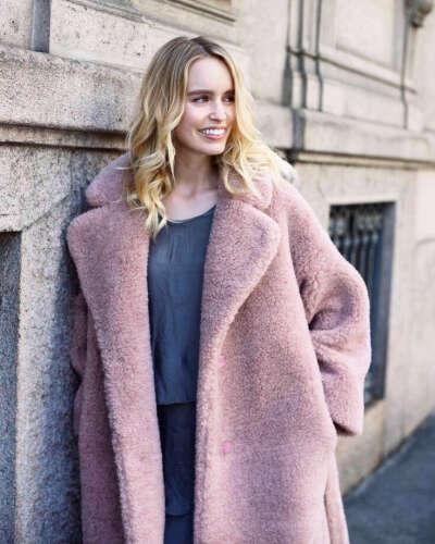 Пушистое пальто