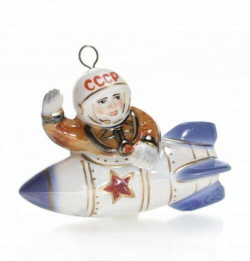 """Елочная игрушка """"Ракета с космонавтом"""""""