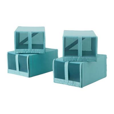 СКУББ Коробка для обуви - голубой  - IKEA