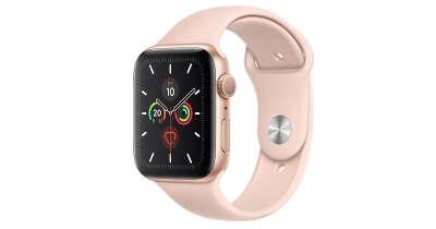AppleWatch Series 5. Корпус 44мм, алюминий золотого цвета. Спортивный ремешок цвета «розовый песок»
