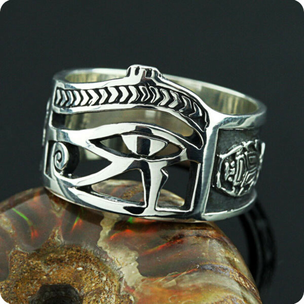 Silver Eye of Horus UDJAT Ring