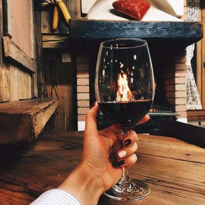 Романтический вечер с вином