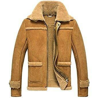 CWMALLS® Denver Men's Sheepskin Aviator Jacket CW807116