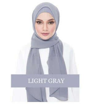 INSTANT CHIFFON SHAWL-LIGHT GRAYV