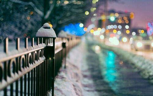 Гулять зимней ночью