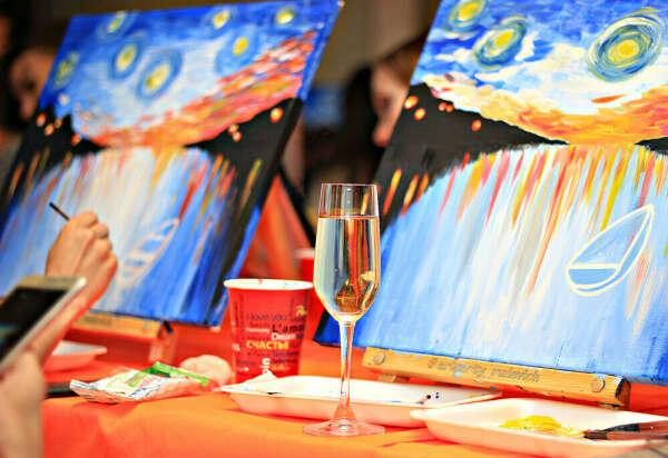 Арт-вечеринка с рисованием картины