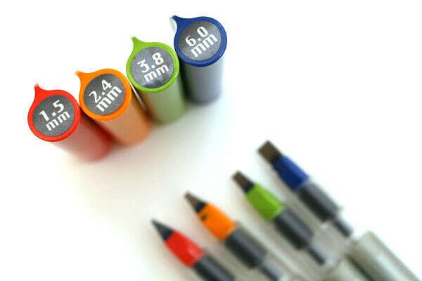 Комплект ручек для каллиграфии Pilot Parallel Pen (4шт)