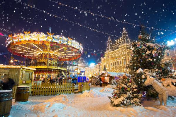 Зимняя ярмарка в Москве