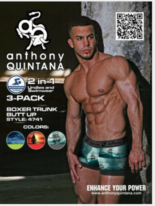 AQ4741 - AQ MEN'S HYBRID COLLECTION BUTTS UP TRUNK BOXER BRIEF 3-PACK
