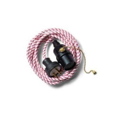 Zangra Bakelite and Textile Cable Pendant Light
