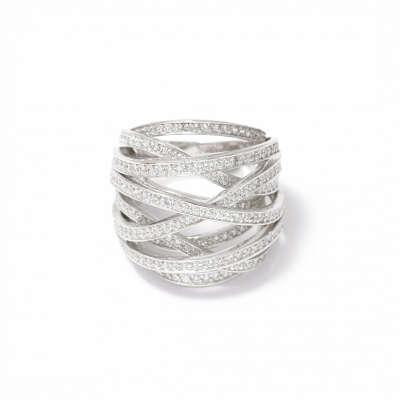 Серебряное кольцо Galaxy - Wanna?Be!