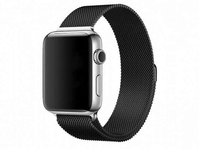 Браслет moonfish для Apple Watch 38-40 мм, сталь, черный