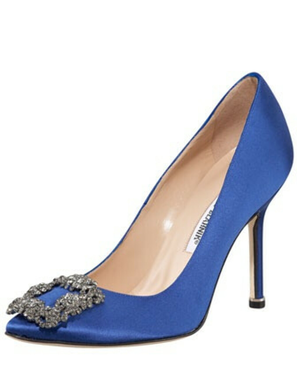Hangisi Satin Pump, Cobalt Blue