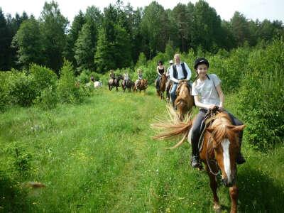 В конный поход