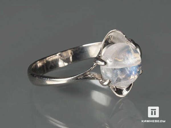 Серебряное кольцо с лунным камнем (размер 16,5-17)