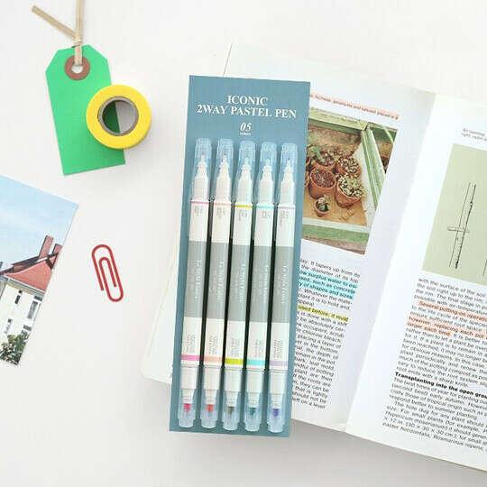Ручки-маркеры 2 Way, набор 5 шт.