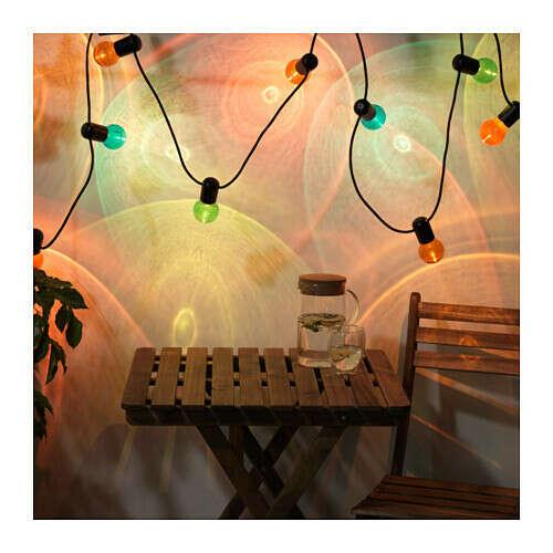 СОЛВИДЕНГирлянда, 12 светодиодов, для сада, разноцветный