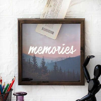 Рамка-копилка темная 'Memories'