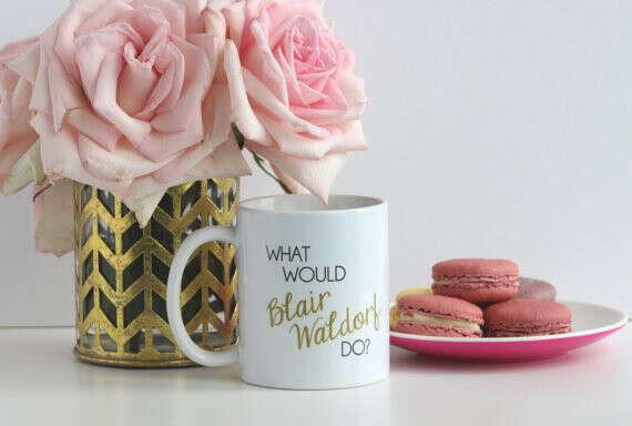What Would Blair Waldorf Do / black and gold coffee mug