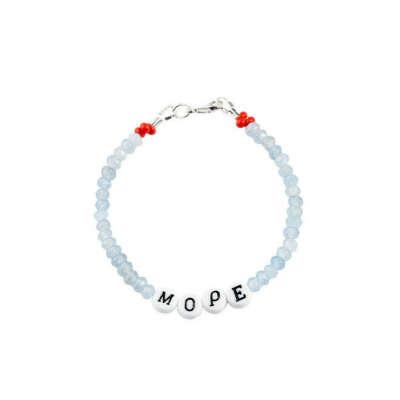 Минималистичный браслет/колье с бусинами с буквами