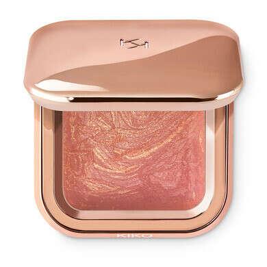 Запеченные румяна-хайлайтер с высокой концентрацией пигментов – Radiant Baked Blush – KIKO MILANO
