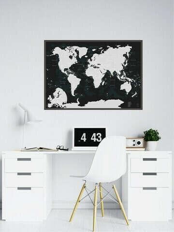 Карта со стирающимся слоем,чтобы увидеть,как велик мир и как многое нужно еще посмотреть)))