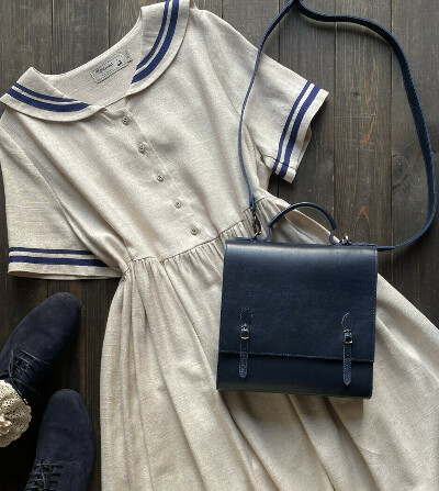 Платье в матросском стиле