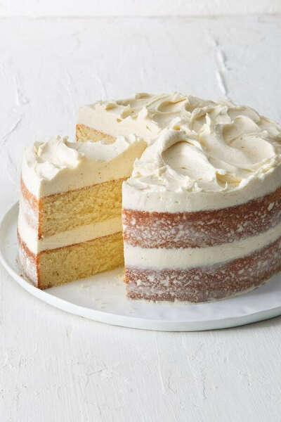 Vanilla Layer Cake with Creamy Vanilla Frosting