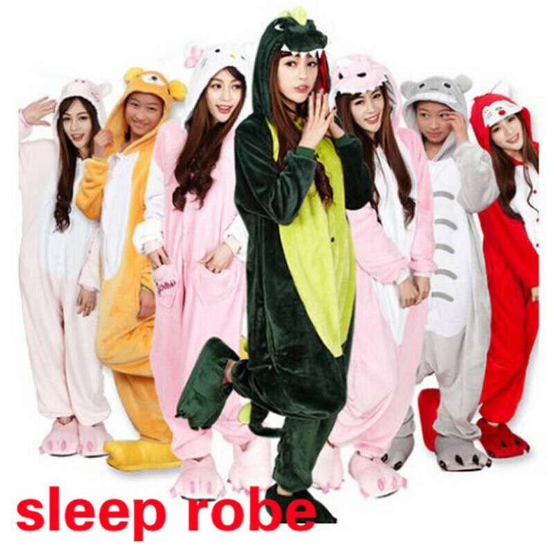 Мода взрослый мужской сон возглавляет ну вечеринку косплей животноводов пижама сна топы взрослых мультфильм ночная рубашка мантия пикачу / динозавра купить на AliExpress