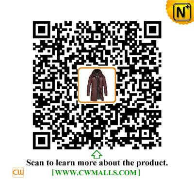CWMALLS® Denver Men Leather Down Coat CW817006