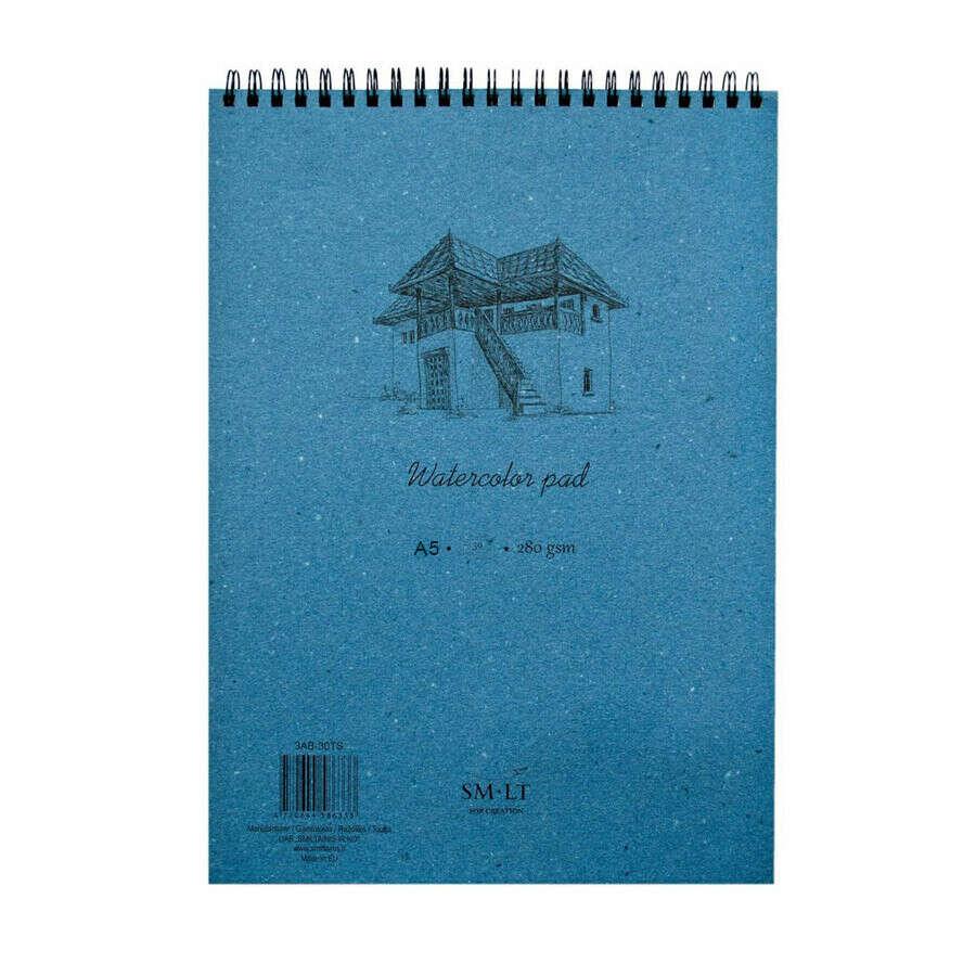 Альбом для акварели Smiltainis SM-LT Watercolor pad А5, 20 листов, 280 г/м2