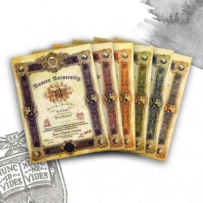 Unseen University Diploma |Terry Pratchett's Discworld | Merchandise