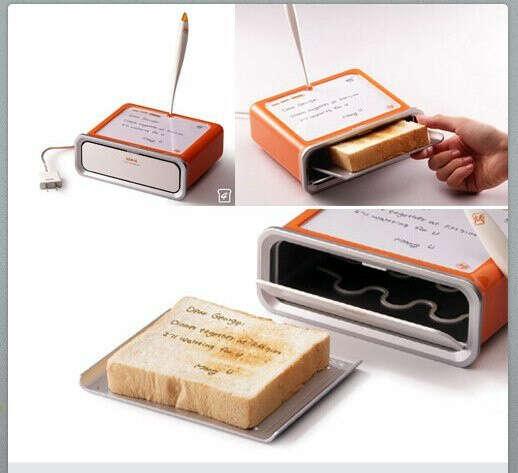 Тостер на котором можно оставлять сообщения*