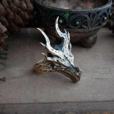 Handmade dragon ring