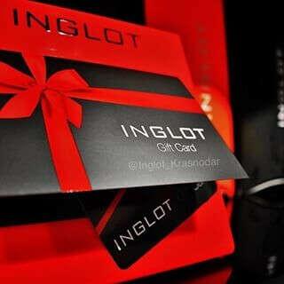 inglot подарочная карта