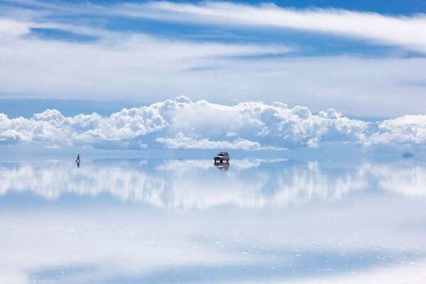 Озеро Салар-де-Уюни. Боливия