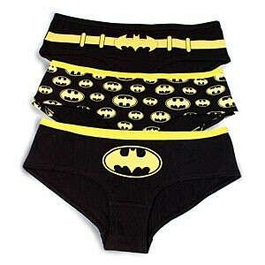 Batgirl Glow-in-the-Dark Hipster Panties, 3 Pack