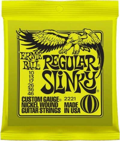Купить 10-46 Ernie Ball Regular Slinky 2221 (Электрогитара) от компании Ernie Ball по лучшей цене - 469,00руб. Идеально подойдёт для гитариста любого уровня - Интернет магазин PedalZoo