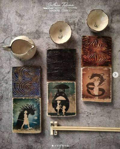 Набор для суши по мотивам мультиков Хаяо Миядзаки
